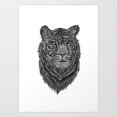 Tiger Art Print by silbck - $19.76