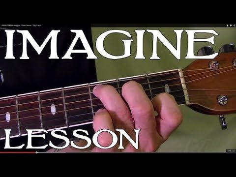Imagine John Lennon Guitar Lesson Culturamusica Y Otros