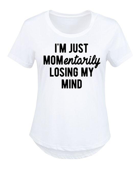 LC trendz Plus White Momentarily Losing My Mind Scoop Neck