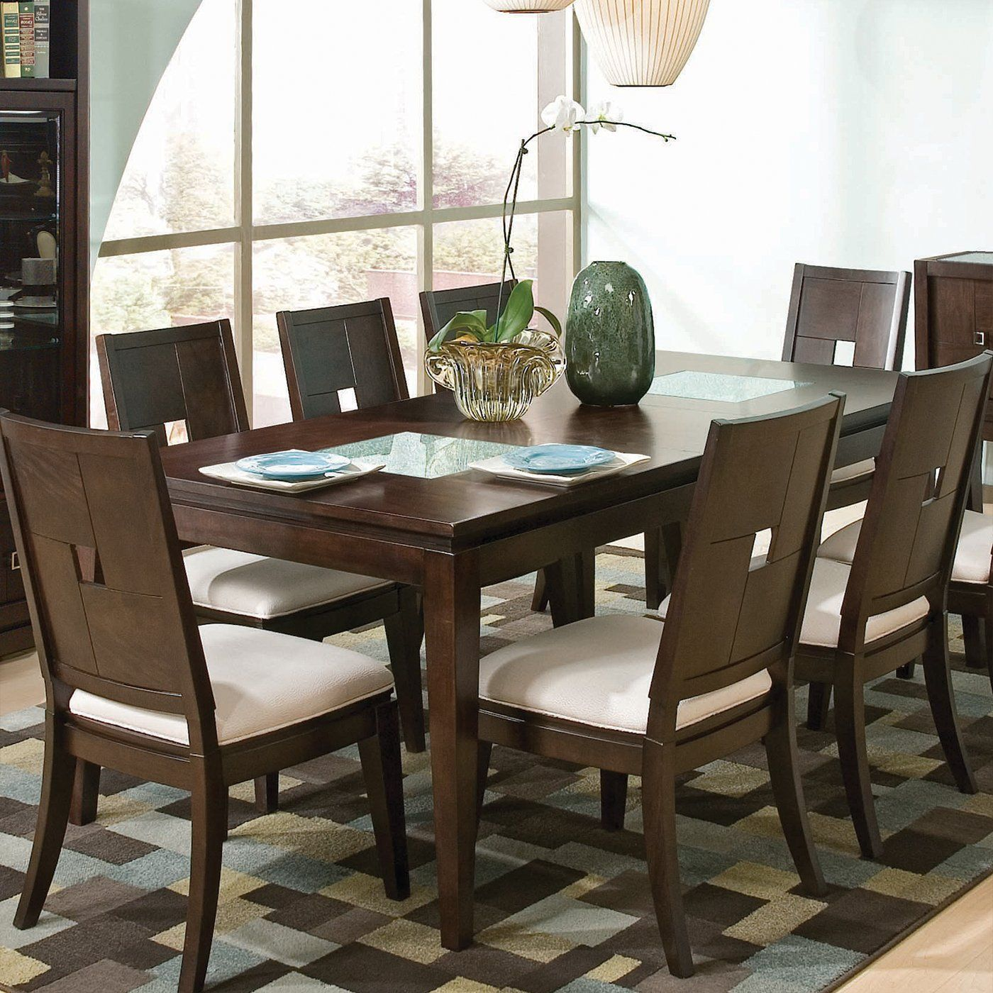 Najarian Furniture Dtspi3ftv Spiga Leg Dining Table