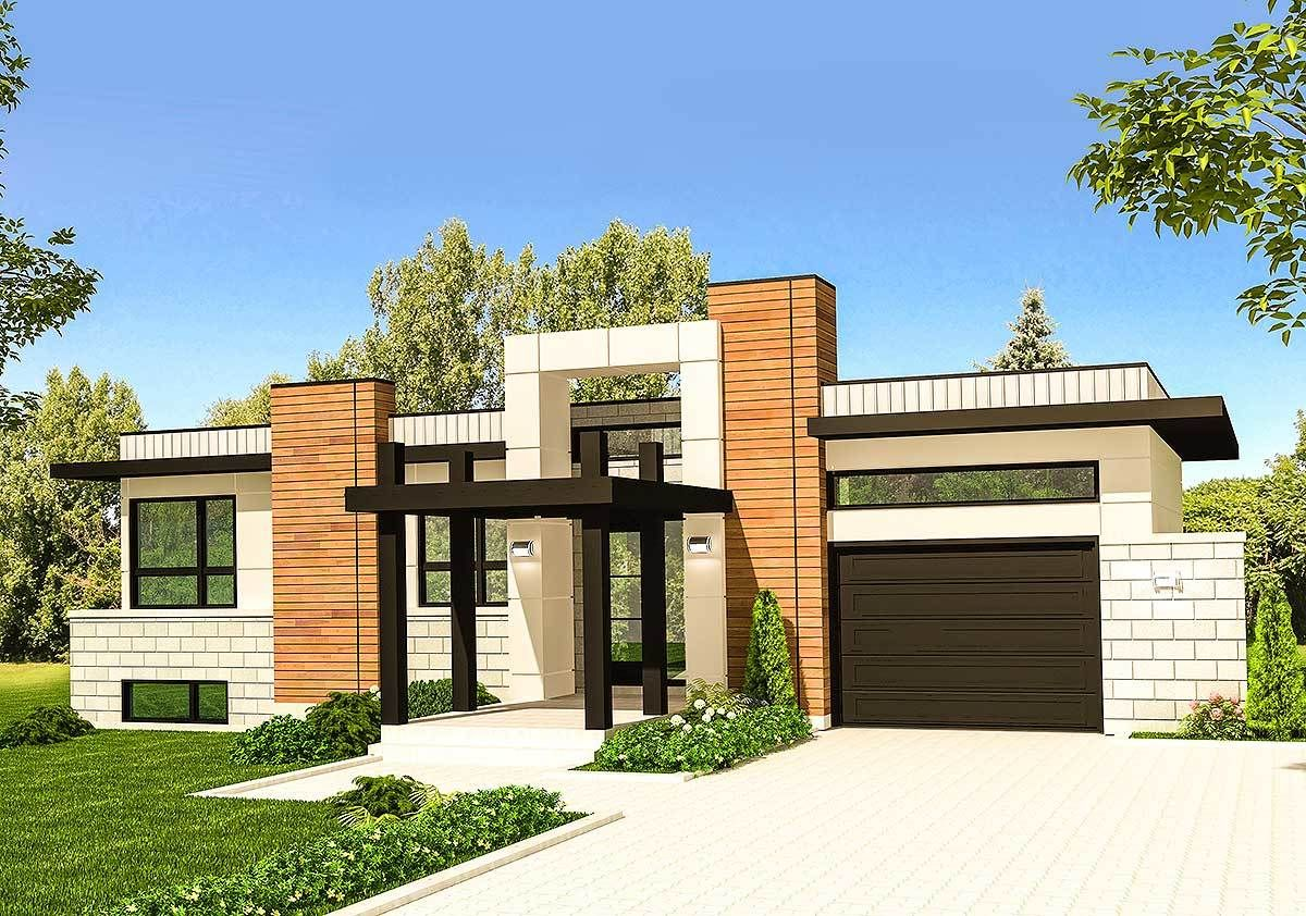 Plan 90275PD Modern Home Plan with Striking