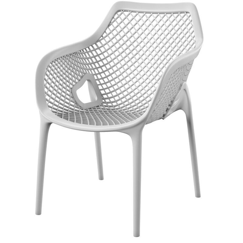 Deines Stacking Patio Dining Chair Allmodern In 2020 Patio Dining Patio Dining Chairs Outdoor Dining Chairs