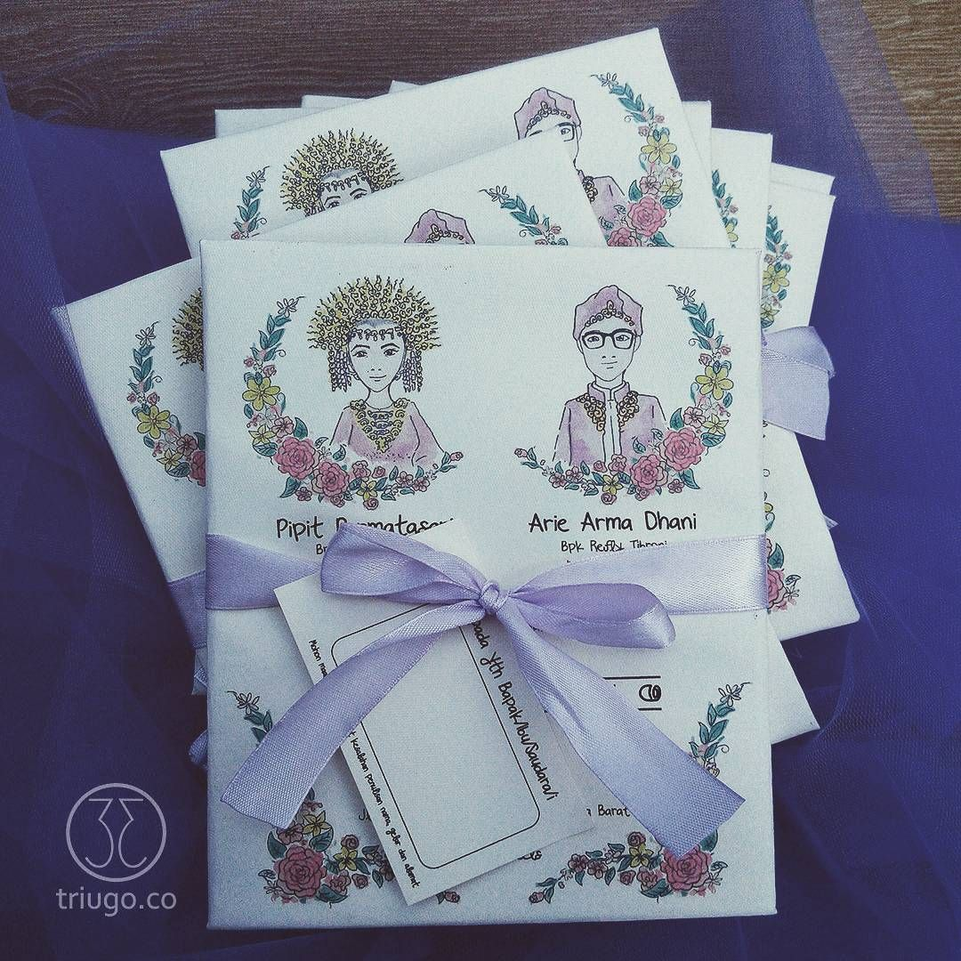 Watercolour illustrated wedding invitation CP Thanks Pipit
