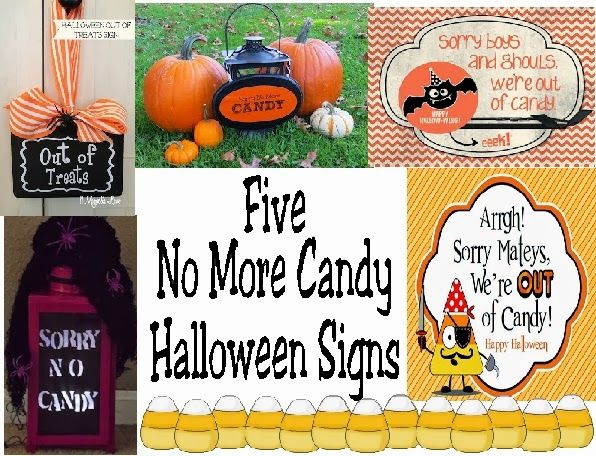5 No More Candy Halloween Signs ~ >Sorry, No More Candy Sign ...