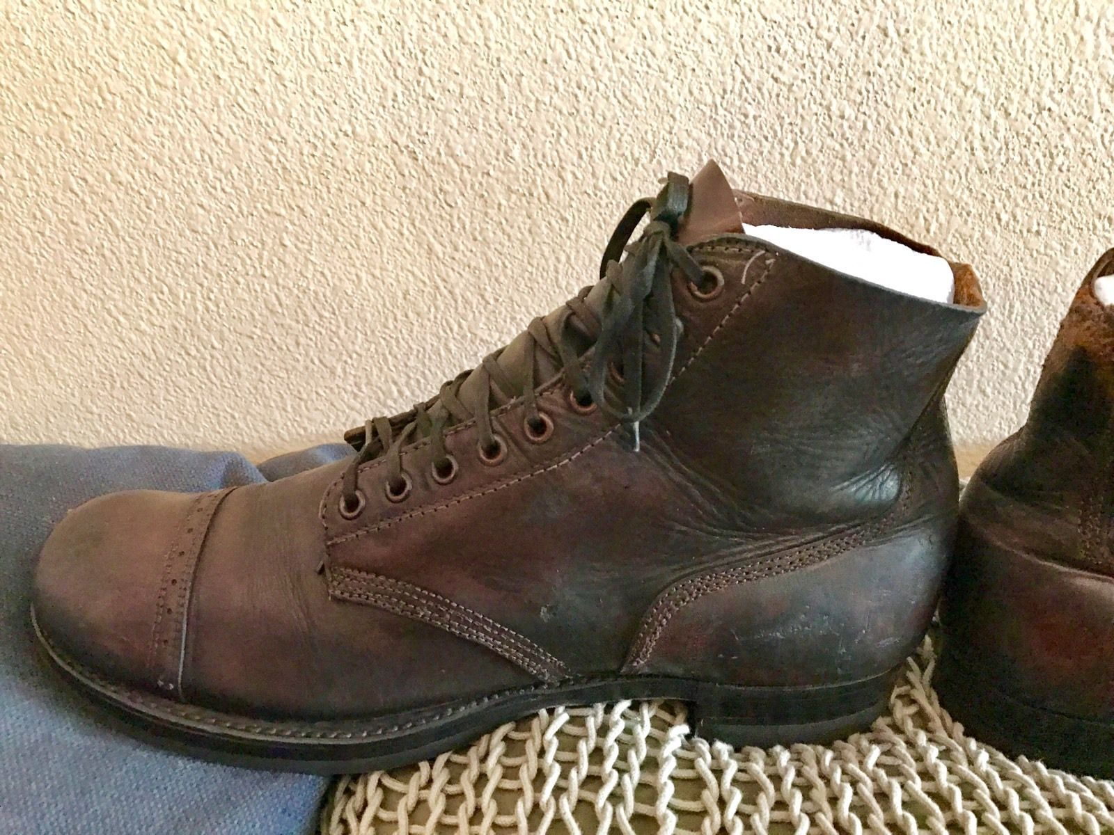 This is a pair of original WWII size 12 russet service boots
