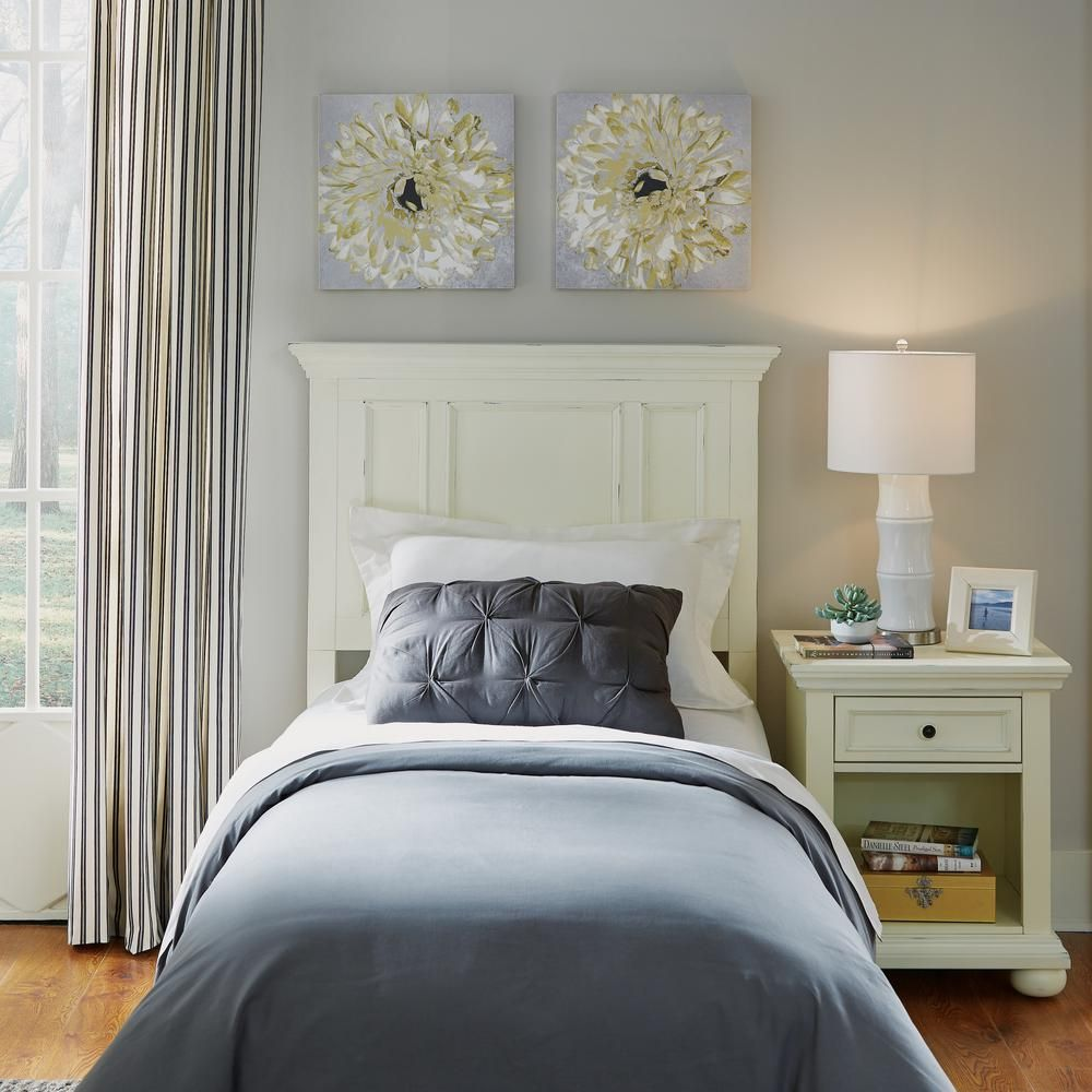 HOMESTYLES Dover White Twin Panel Headboard White
