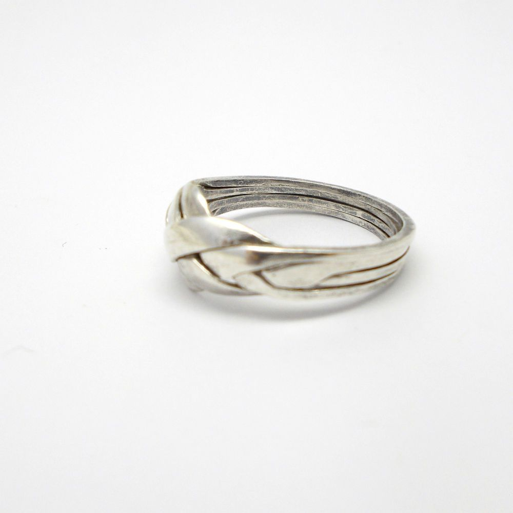 925 Sterling Silver Puzzle Knot Promise Ring Size 11 #Unbranded ...