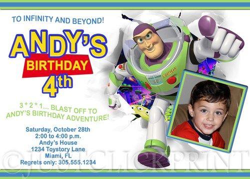 Toy story buzz lightyear birthday party photo invitation printable toy story buzz lightyear birthday party photo invitation printable pronofoot35fo Gallery
