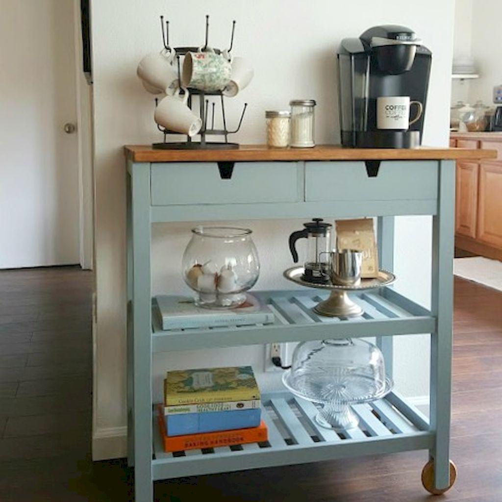 50 Affordable Apartment Coffee Bar Cart Ideas | Bar carts, Flats and Bar