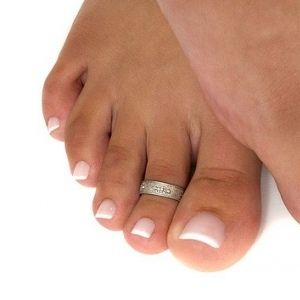 French toes are the way to go for those fancy heels and a clean ...