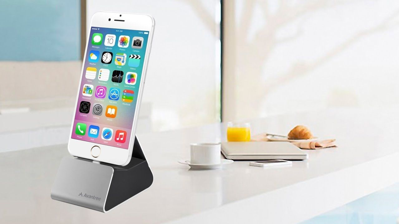 Avantree aluminum iphone charging dock with apple mfi