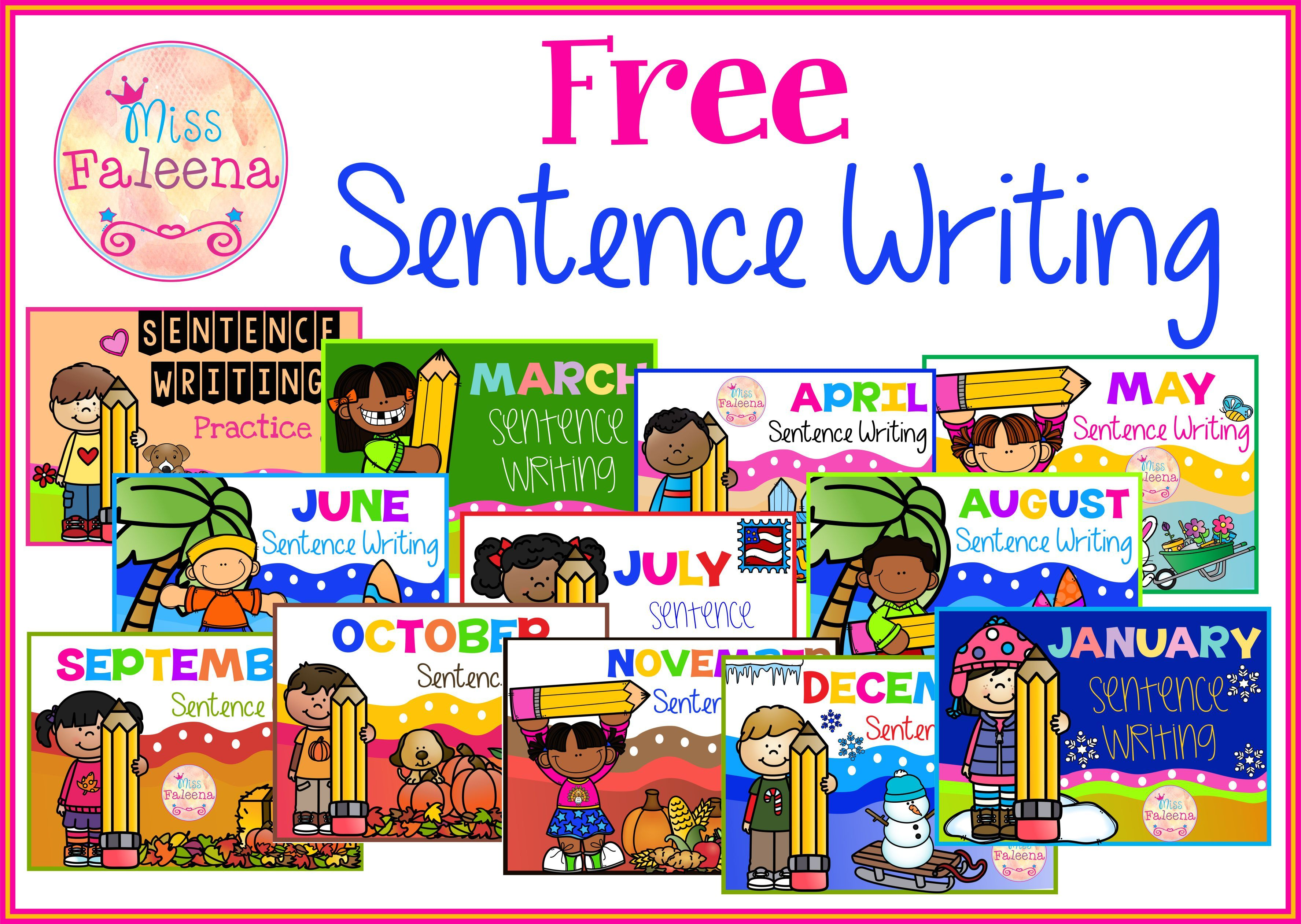 Free Sentence Writing These Are Free Samples From My