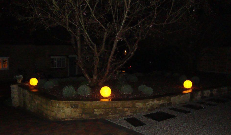 Www Stoneglobelights Co Uk 38cm Stone Effect Balls Mains Powered Light Up At Night Garden Lights With Images Garden Globes Entrance Lighting Entrance Gates