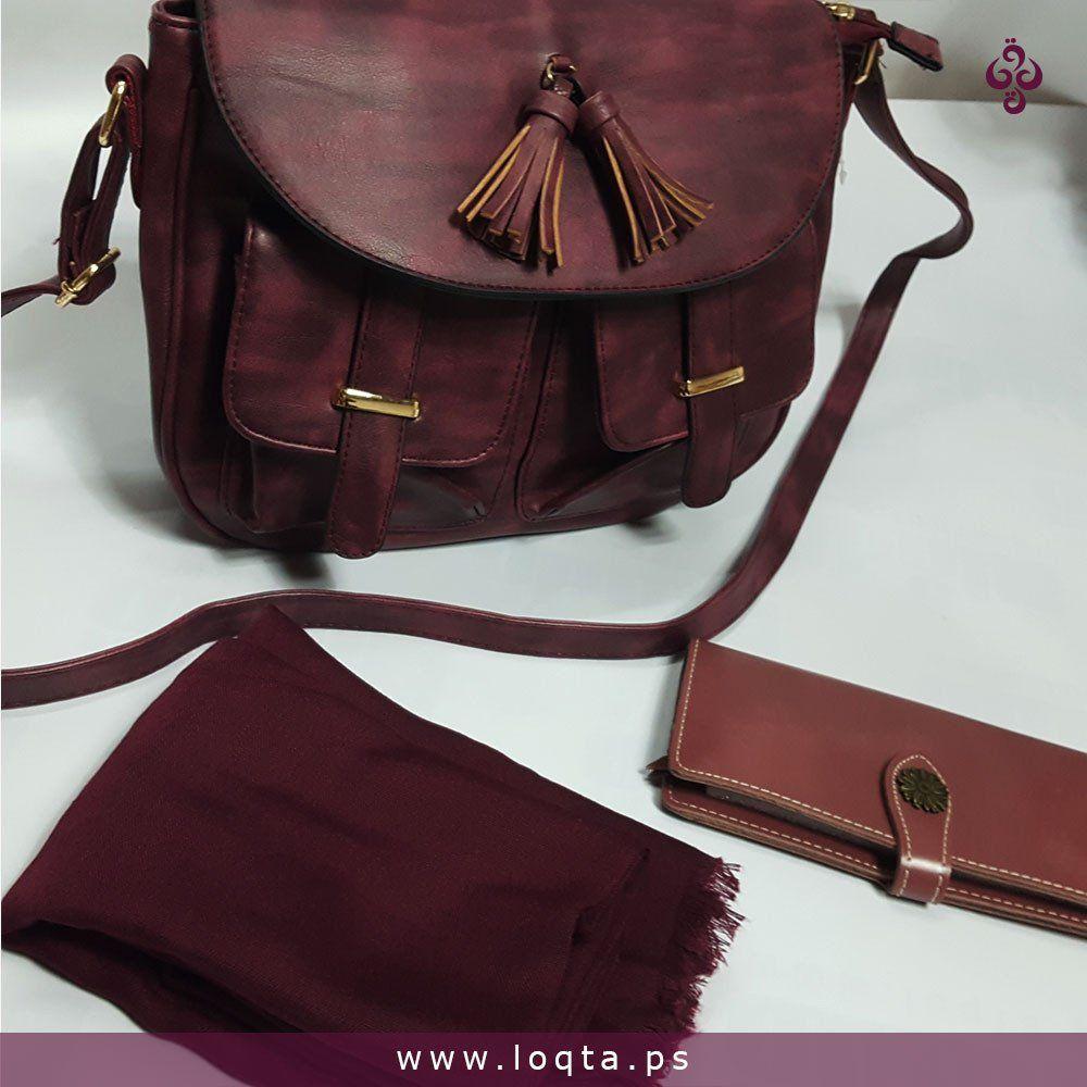 حقيبة لون توتي كروس مع جيبتين وسحابات داخلية Loqta Ps Bags Cross Bag Crossbody