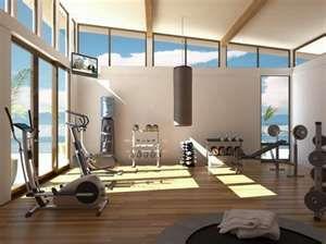 home gym by the beach