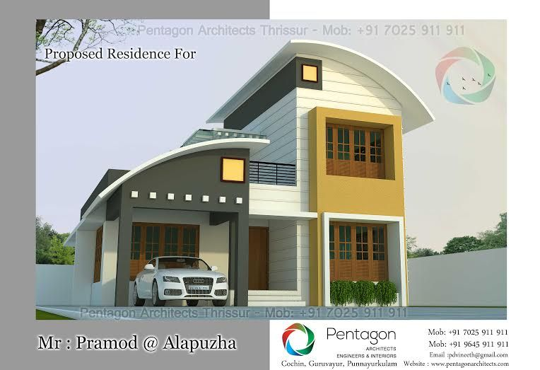 Low Budget 3 Bedroom Modern Home Plan In Kerala New Home Plans For 3  Bedroom Modern Home Design With Free Plans For Kerala,