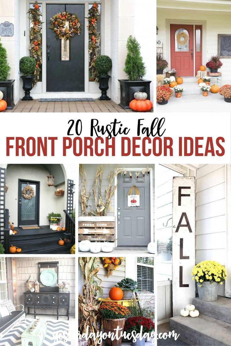 20 Rustic Fall Front Porch Ideas Porch Decorating Fall