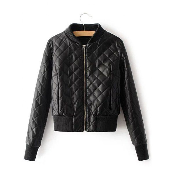 Black Quilted Cropped Bomber Jacket | Products | Pinterest ... : quilted cropped jacket - Adamdwight.com