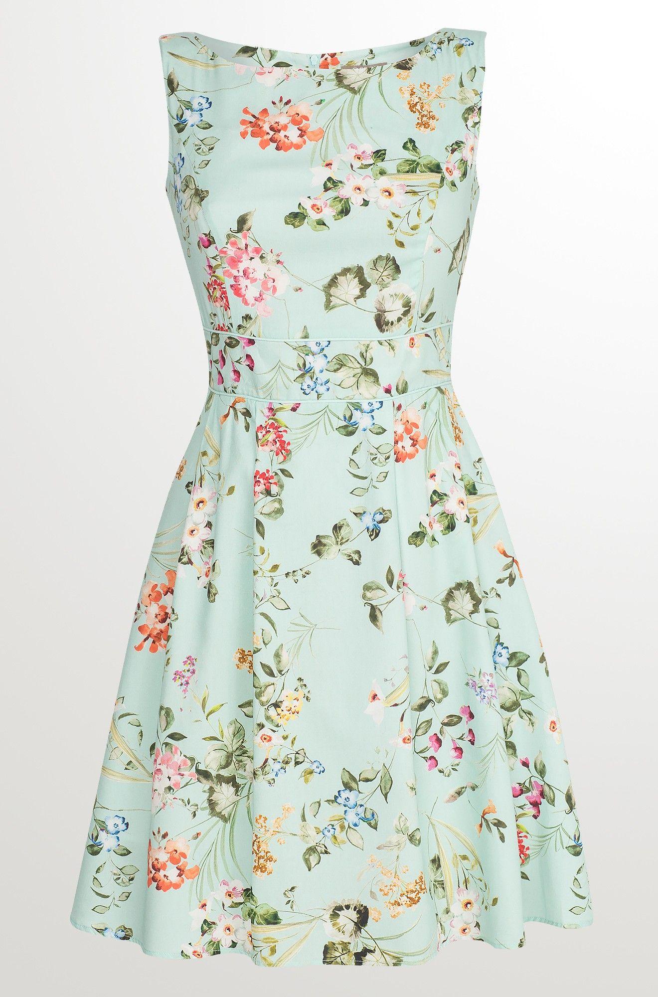 9753b7d97e2 Květované šaty se zvonovou sukní