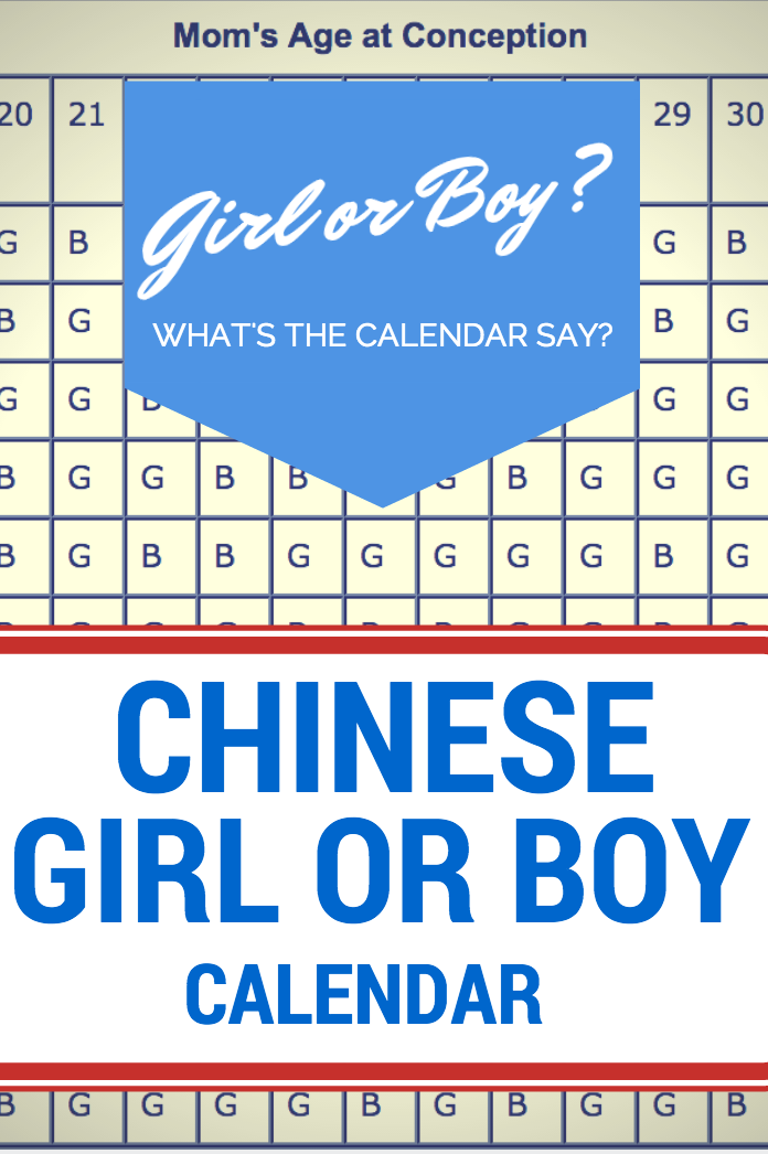 Huge Boy or girl calender