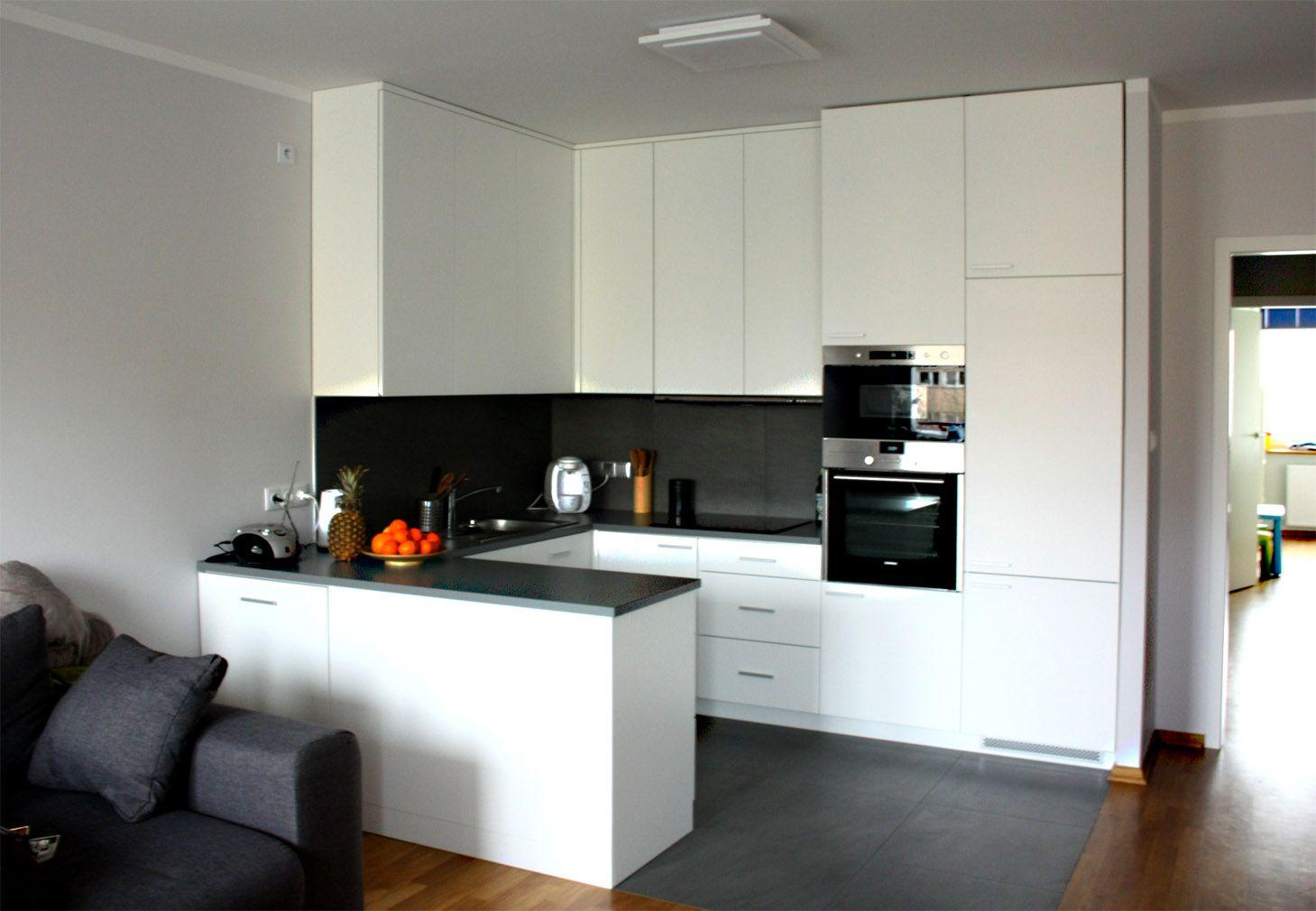 Biala Ciemna Modern Kitchen Apartment Small Apartment Kitchen Kitchen Design Small