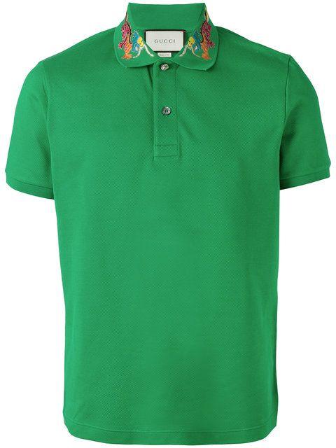 550e54ef3 GUCCI dragon embroidered polo shirt. #gucci #cloth #shirt   Gucci ...