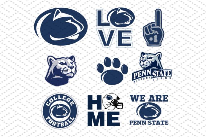Penn State Nittany Lions Svg Bundle Nfl Team Svg Bundle Ncaa Team Svg Football Team Logo Svg Football Svg Football Team Logos Football Logo Penn State Logo