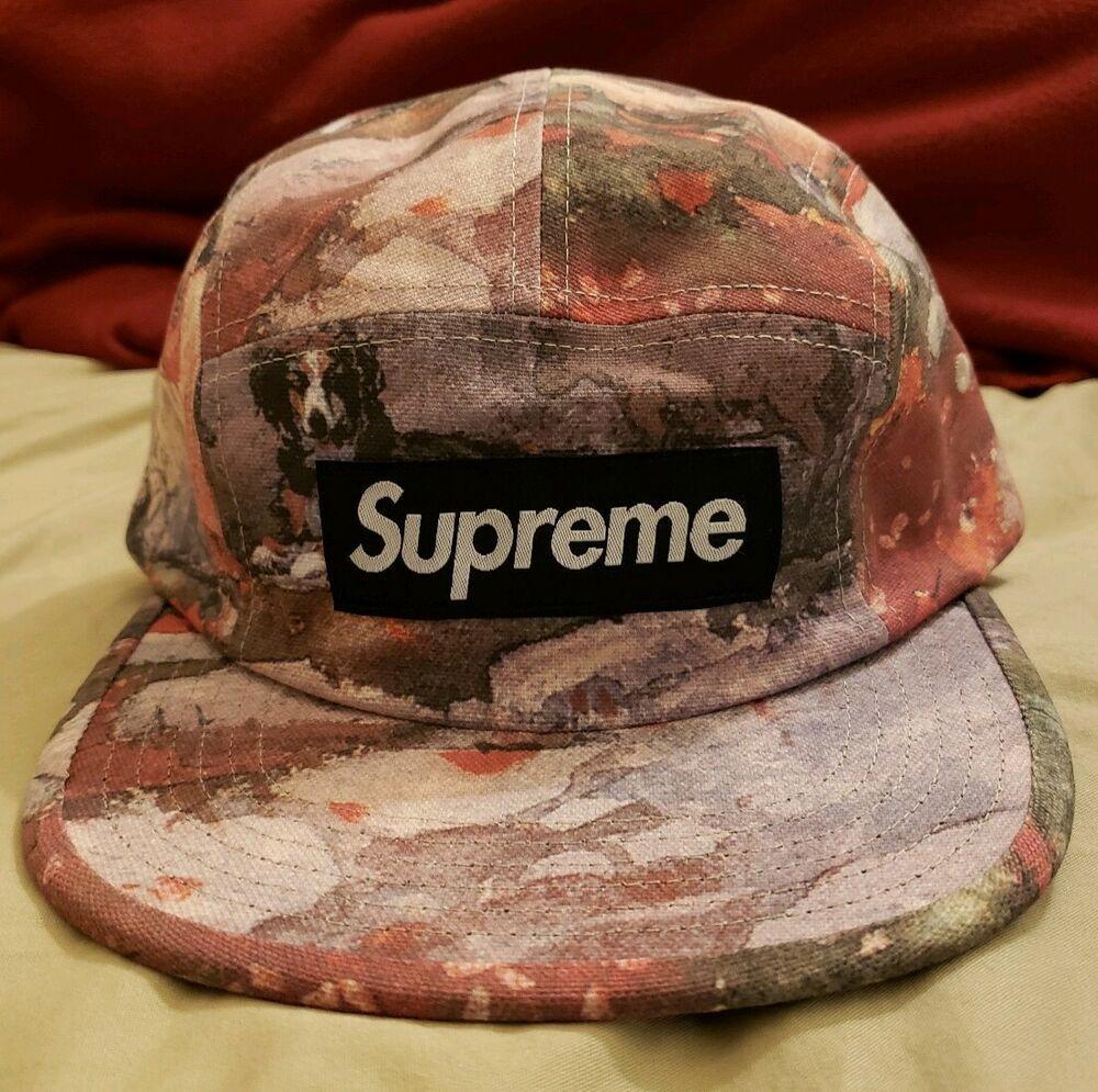 Black Box Logo Supreme S//S 2018 Denim Camp Cap