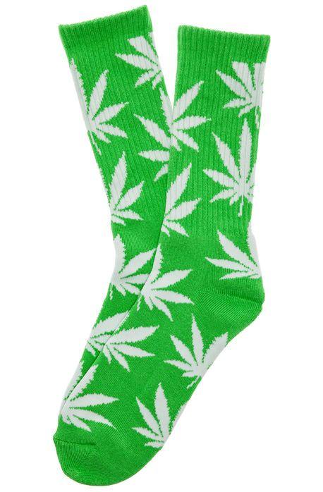 3 Pairs Ganja Marijuana Weed Leaf 420 Hi Plantlife Socks Black Grey Red Green