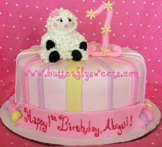 Little Lamb Birthday Cake By Erfly Sweets