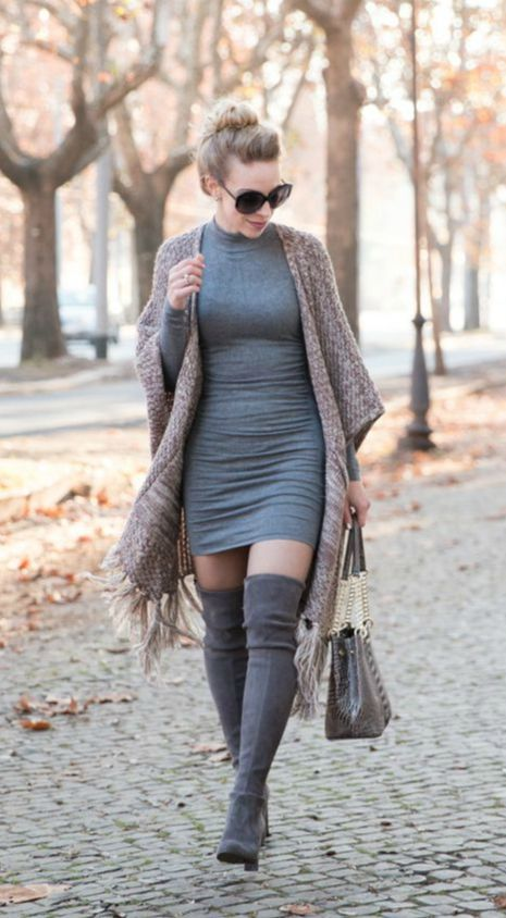14 Sweater Dresses Ideas For Winter Season