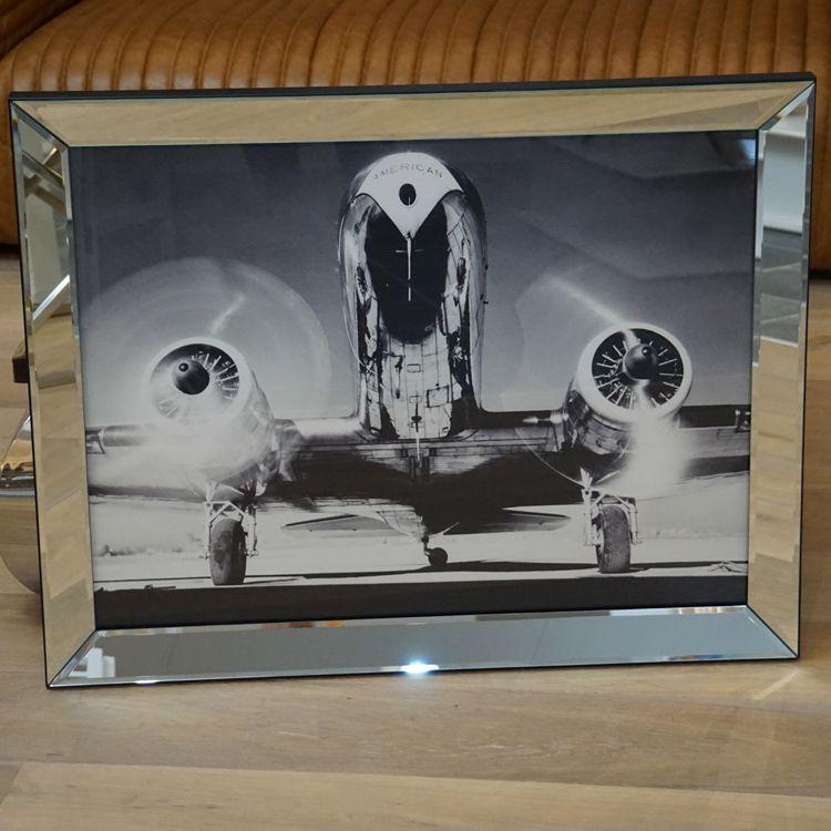 Wandbild Dakota DC-2 eingefast in einem Spiegelrahmen mit ...