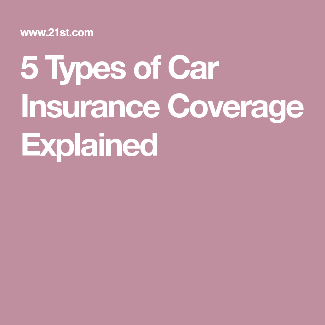 5 Types Of Car Insurance Coverage Explained Car Insurance