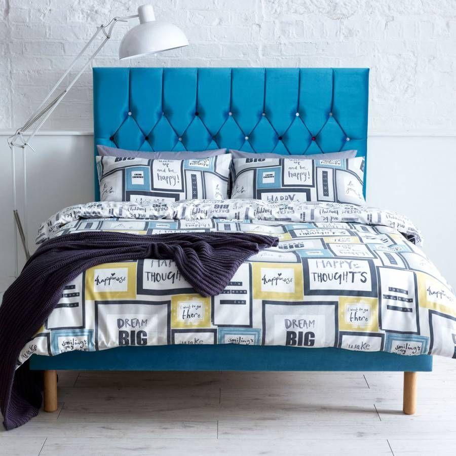 Boutique Collection Velvet Bed Frame - Single (3') - Teal#bed #boutique #collection #frame #single #teal #velvet