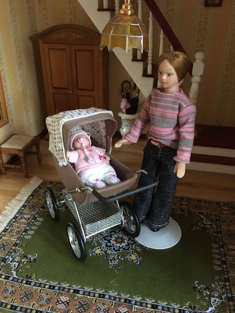 kinderwagen puppenwagen f r die puppenstube 1 12 in spielzeug puppenstuben h user puppen. Black Bedroom Furniture Sets. Home Design Ideas