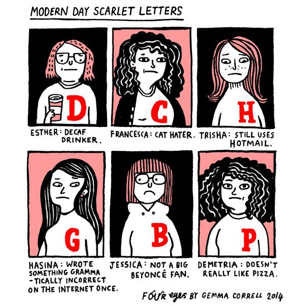 modern day scarlet letters my new favorite thing on the