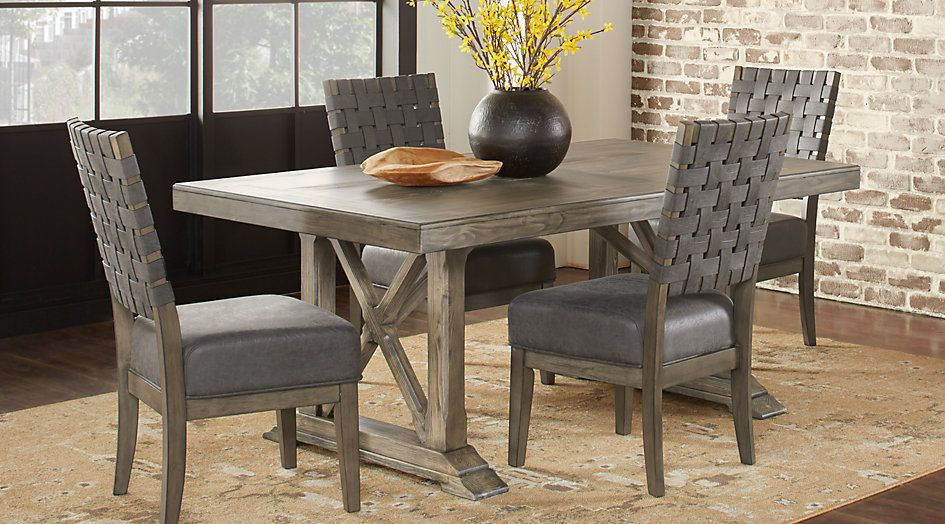Bristow Charcoal 5 Pc Rectangle Dining Room Rectangle Dining