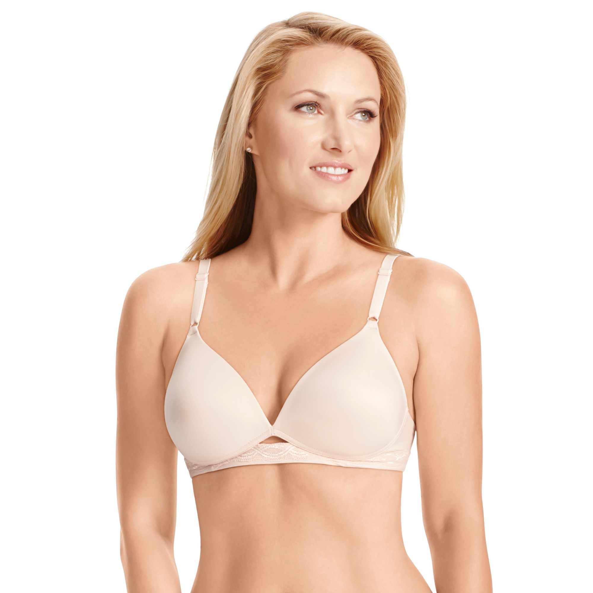 e9c10c2fe3 Simply Perfect by Warner s Women s Super Soft with Lift Wireless Bra TA1869  - Ivory 34B