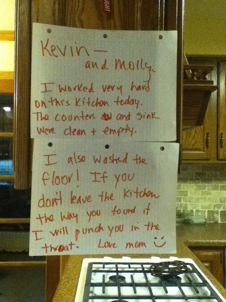 Photo of 55 hilarious passive aggressive notes left by moms and dads