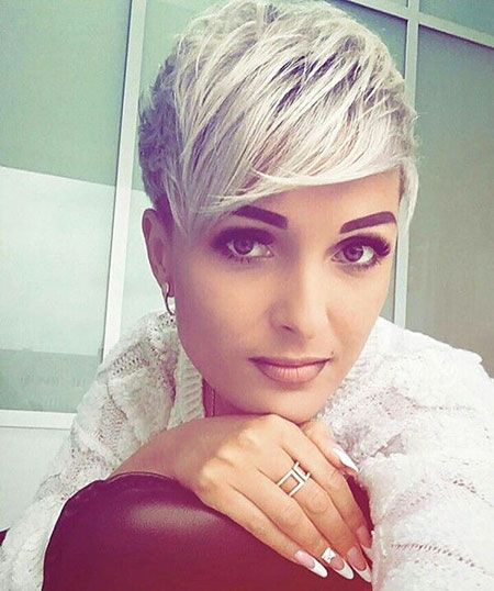 Pixie Short Hair Pretty Damenfrisur Kurz Kurze Blonde Haare Mit