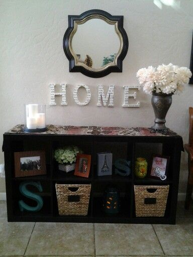 Better Homes and Gardens 8 cube storage unit used in entryway & Better Homes and Gardens 8 cube storage unit used in entryway ...
