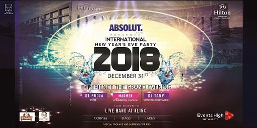 International New Year Eve 2018 Hilton In Bangalore New Years Party New Years Eve 2018 New Years Eve Party