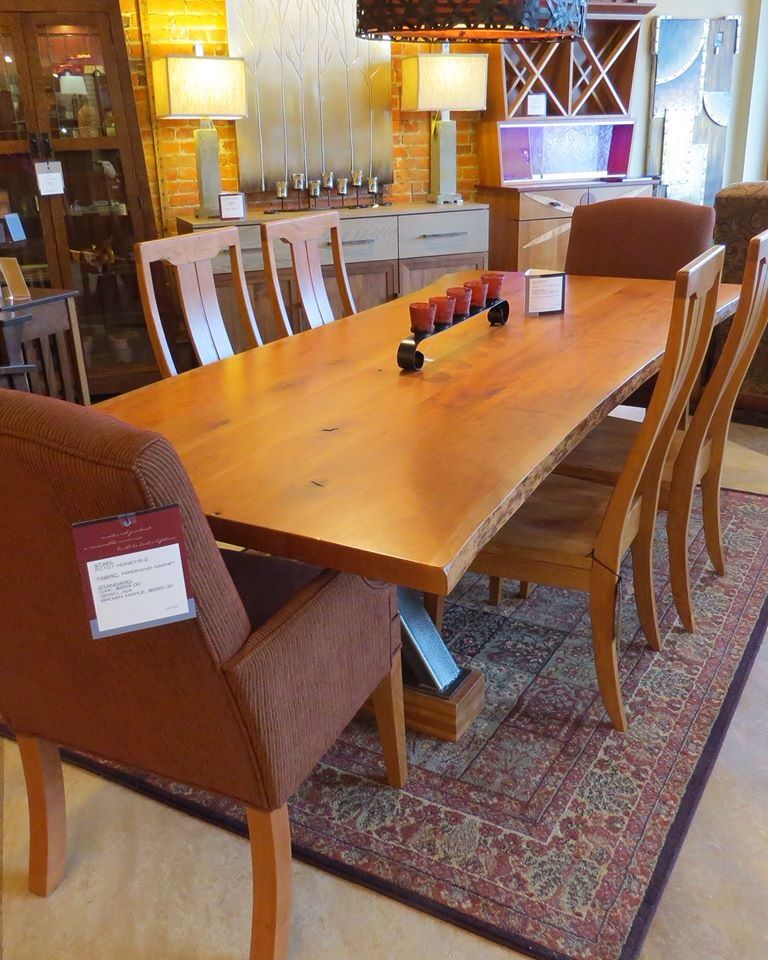 Beautiful Rustic Love Edge Cherry Table From Amish Originals Furniture In Westerville Oh