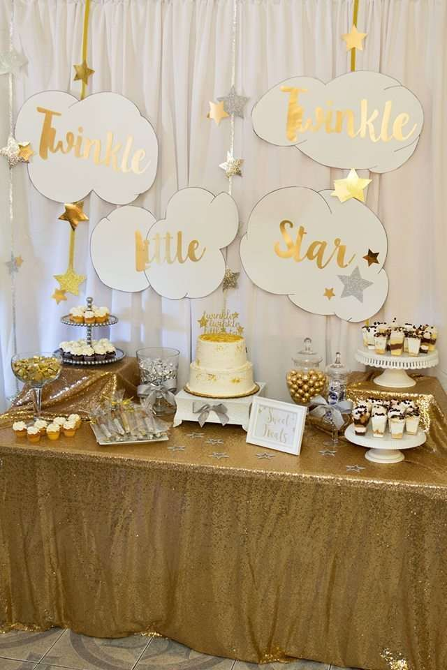Twinkle little star baby shower party ideas star baby for Baby shower decoration free