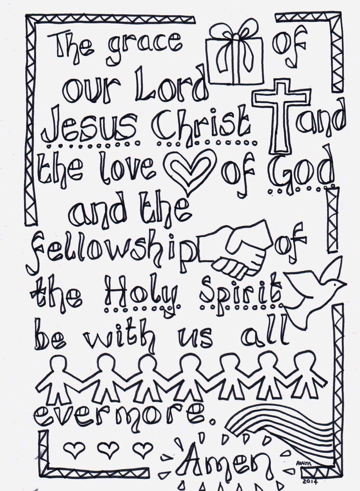 The Grace Reflective Colouring Sheet To Print Christian