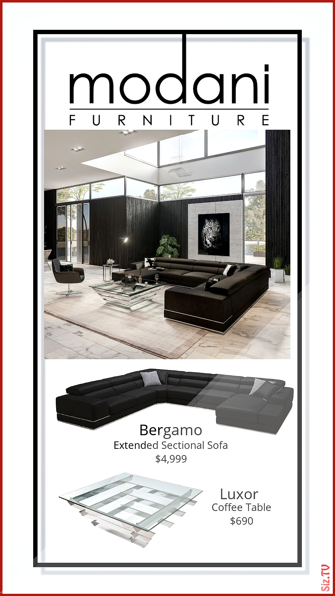 Bergamo Extended Sectional Sofa In Black Bergamo Black Extended Farmhouse Living Room Sectional Sectional Sofa Small Living Room Design Trendy Living Rooms [ 1920 x 1080 Pixel ]