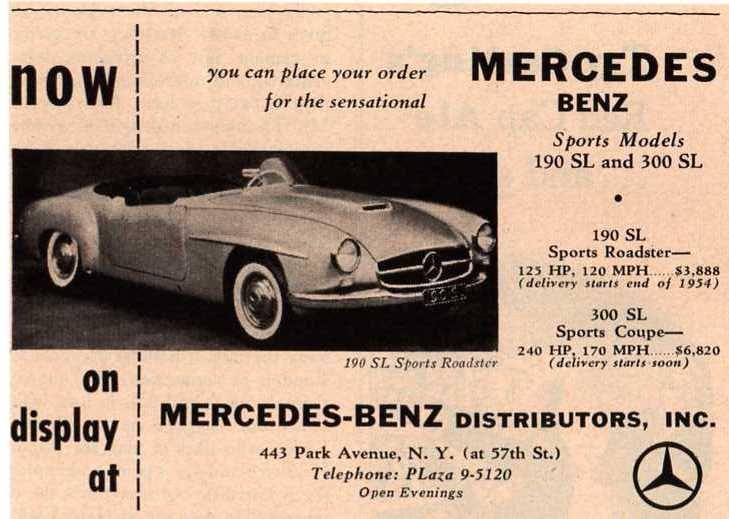 Mercedes Benz 190sl And Mercedes Benz 300sl Ad 1954 Mercedes Benz 190sl Chief Design Team Late 1954 Source W121 Mercedes Benz 190 Roadsters Mercedes