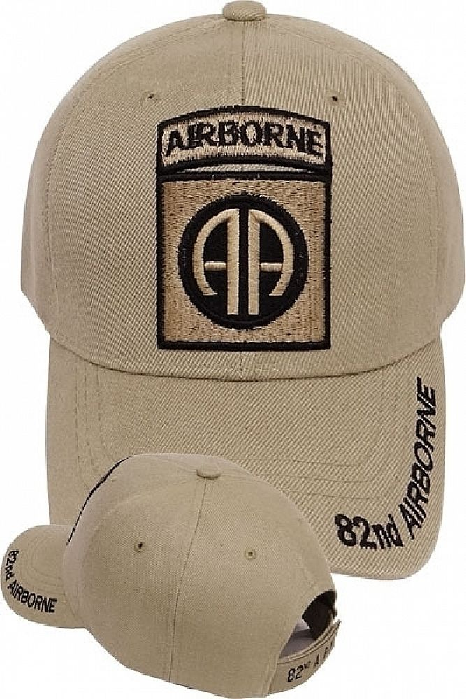 ARMY 82ND AIRBORNE DIVISION ALL AMERICAN EMBROIDERED BLACK MILITARY  HAT CAP