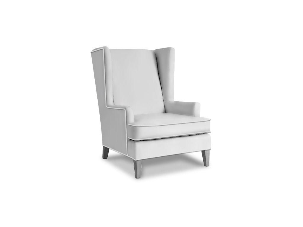 Henredon Beasley Chair, H0762 --  Hickory Furniture Mart in Hickory, NC. Optional #9 Natural Nail Trim; Available in Leather.