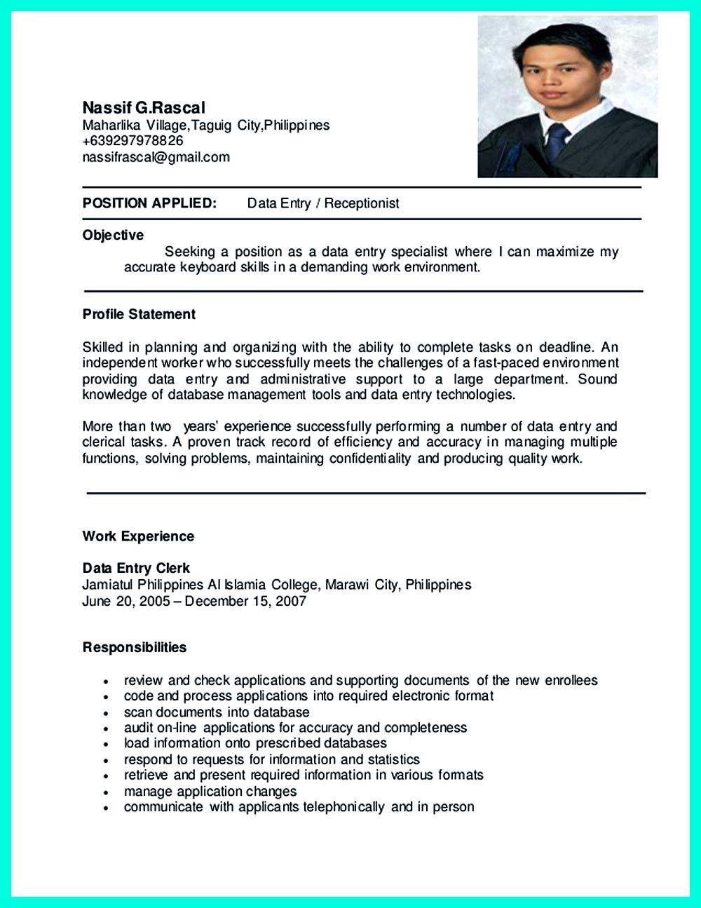 Pin On Resume Sample Template And Format    Resume Examples